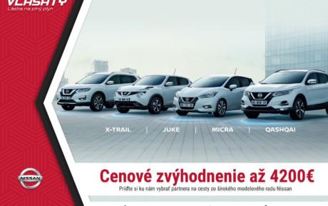 Vyberte si svoj obľúbený model Nissan so špeciálnym cenovým zvýhodnením až do 4200 €! Ponuka platí len do 22.marca