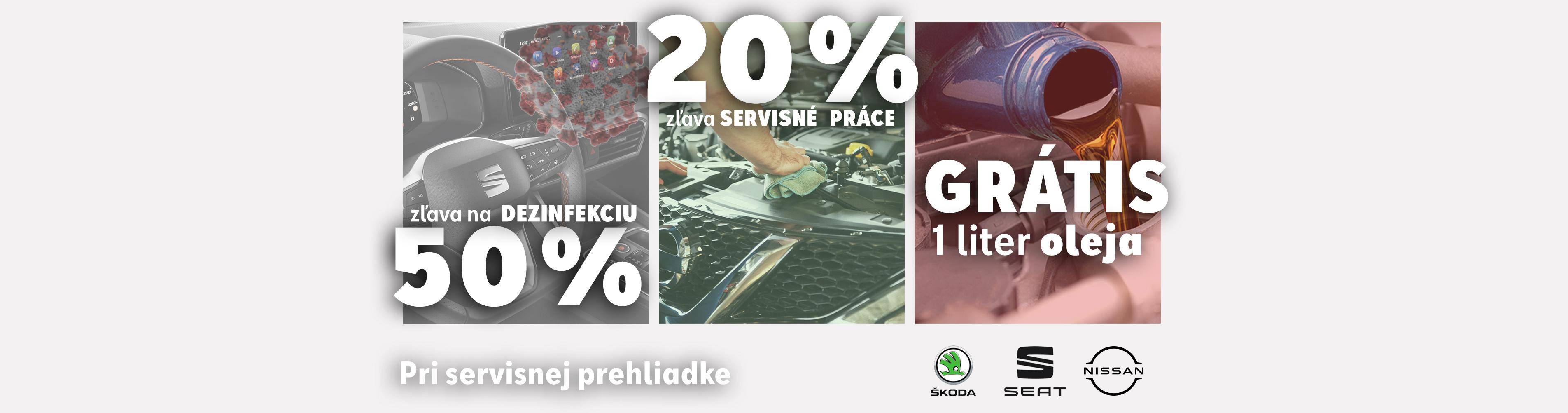 AKCIA pri servisnej prehliadke v AUTOSPOL Vlasatý pre všetky vozidlá značiek ŠKODA, SEAT a NISSAN